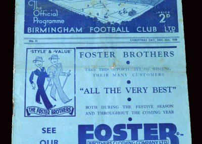 Birmingham v Sunderland 25.12.1936