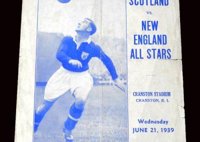 New England v Scotland 21.06.1939