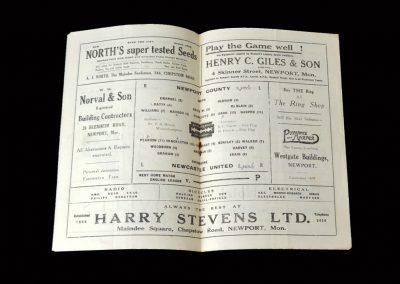 "Newport v Newcastle 07.06.1947 (despite winning ""home-leg"" 13-0, the Geordies lose 4-2 here)"