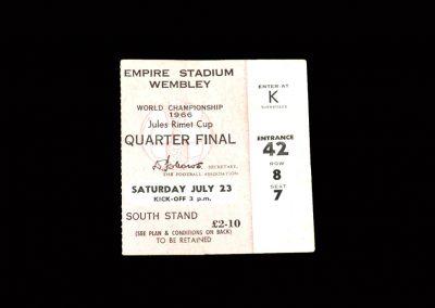 England v Argentina 23.07.1966 - Ticket