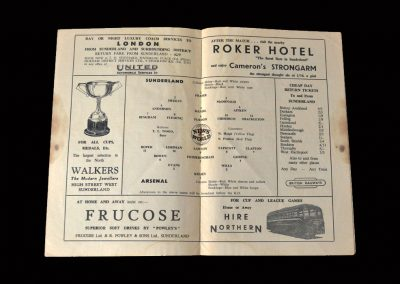 Sunderland v Arsenal 24.09.1955 (last league game)