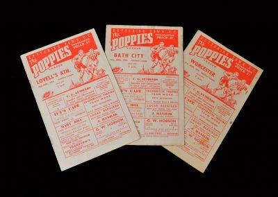Kettering v Lovells 10.03.1956 | Kettering v Bath City 07.04.1956 | Kettering v Worcester 21.04.1956