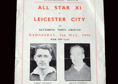 All Star 11 v Leicester City 11 02.05.1956 (Johnson and Waddell Testimonial Match)