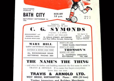 Kettering v Bath 01.09.1956
