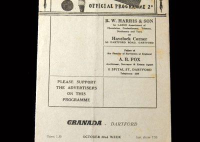 Kettering v Dartford 20.10.1956