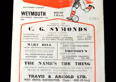 Kettering v Weymouth 12.01.1957