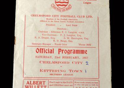 Kettering v Chelmsford 23.02.1957