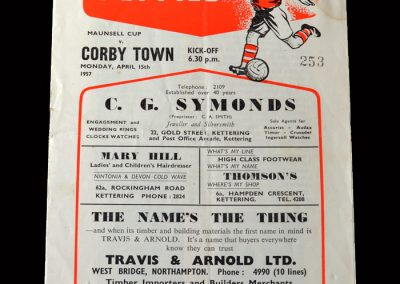 Kettering v Corby Town 15.04.1957 - Maunsell Cup Semi Final