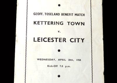 Kettering v Leicester 30.04.1958