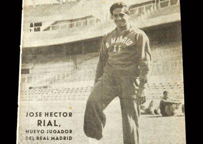 Real Madrid Magazine September 1954