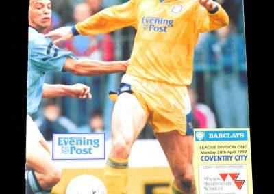 Leeds v Coventry 20.04.1992