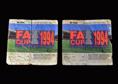 Man Utd v Chelsea 14.05.1994 - FA Cup Final Tickets (Scores 2 at Chelsea's end)