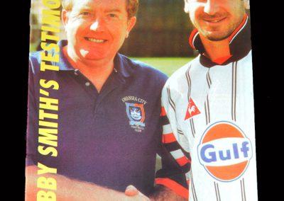 Swansea v Welsh International 11 09.10.1995 - Bobby Smith Testimonial