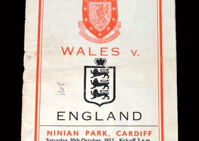 Wales v England 10.10.1953