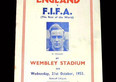 England v Rest of the World (FIFA) 21.10.1953 - pirate