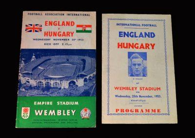England v Hungary 25.11.1953