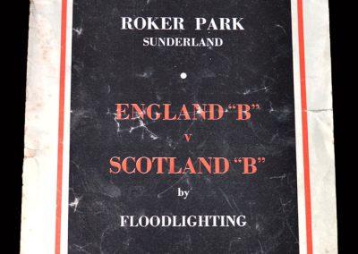 England B v Scotland B 03.03.1954