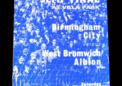 West Brom v Birmingham 27.04.1968 - FA Cup Semi Final