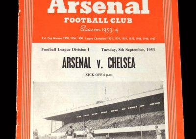 Arsenal v Chelsea 08.09.1953