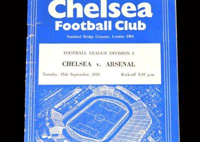 Arsenal v Chelsea 15.09.1953