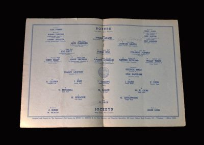 Boxers v Jockeys 03.05.1954 (Lawton)