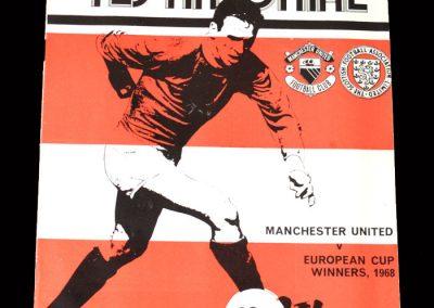 Man Utd v 68 European Cup Winners 26.11.1975 - Pat Crerand Testimonial