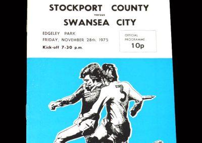 Stockport v Swansea 28.11.1975