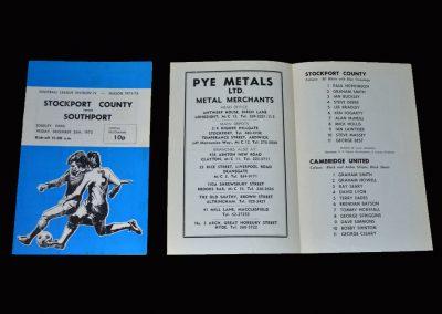 Stockport v Southport 26.12.1975 | Stockport v Cambridge 01.01.1976