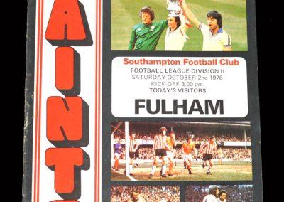 Fulham v Southampton 02.10.1976 - Sent off.