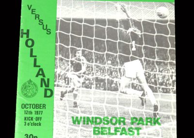 Northern Ireland v Holland 12.10.1977 - last international game