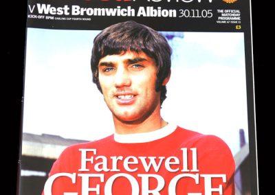 Man Utd v West Brom 30.11.2005 - Farewell