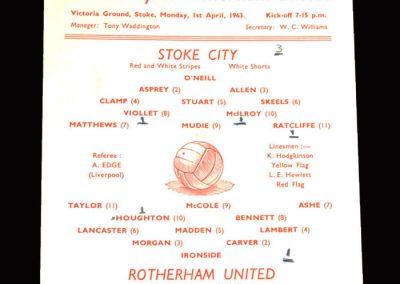 Stoke v Rotherham 01.04.1963