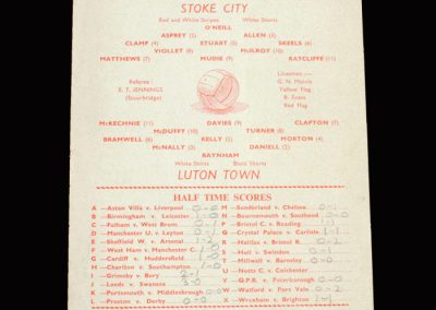 Stoke v Luton 18.05.1963 - Promotion Winner