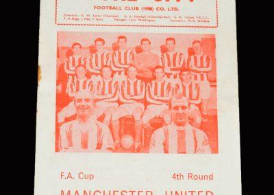 Stoke v Man Utd 30.01.1965 - FA Cup 4th Round