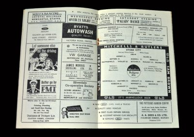 Stoke v Fulham 06.02.1965 (Stan's last competitive game)