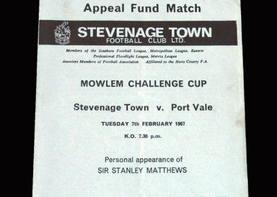 Stevenage v Port Vale 07.02.1967