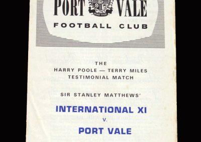 International 11 v Port Vale 29.08.1967