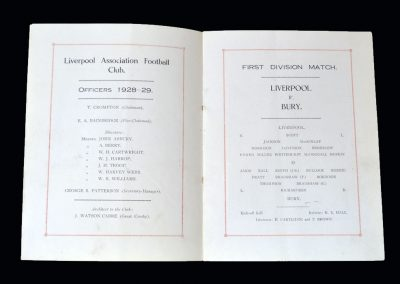 Liverpool v Bury 25.08.1928 (Opening of the Kop)