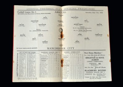 Arsenal v Man City 21.09.1935