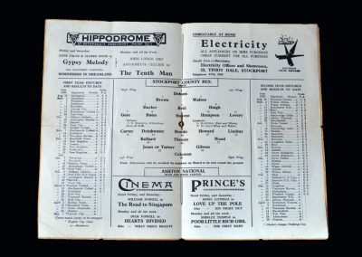 Stockport Reserves v Manchester North End 27.03.1937 | Stockport Reserves v Ashton 29.03.1937