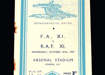FA 11 v RAF 11 29.10.1947