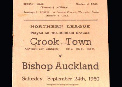 Crook v Bishop Auckland 24.09.1960