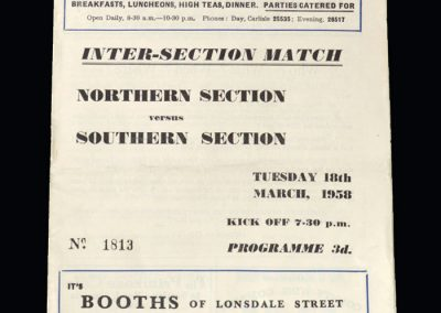 North v South 18.03.1958 - Third Division Challenge