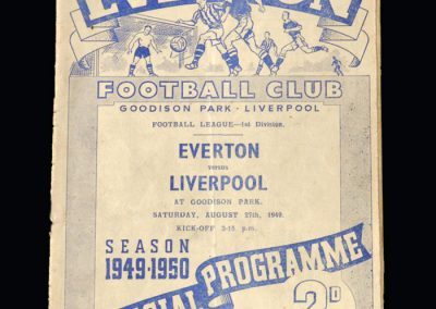 Everton v Liverpool 27.08.1949