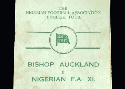 Bishop Auckland v Nigerian FA 03.09.1949