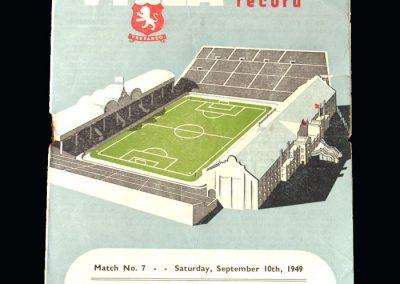 Aston Villa v Blackpool 10.09.1949