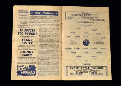 Man City v Fulham 10.09.1949