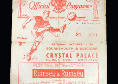 Bournemouth v Palace 01.10.1949