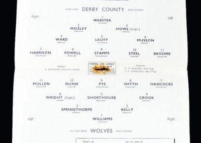 Derby v Wolves 08.10.1949
