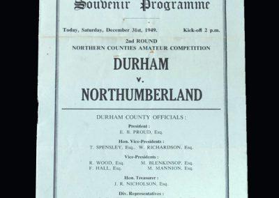 Durham v Northumberland 31.12.1949